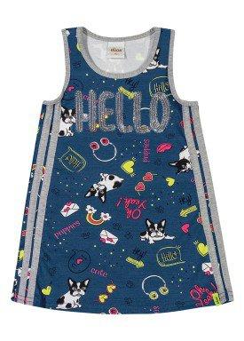vestido infantil feminino hello marinho elian 231382