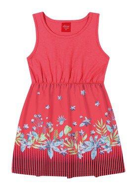 vestido infantil feminino flores goiaba elian 231400