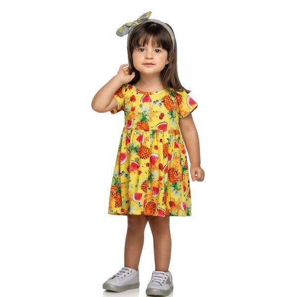 vestido infantil feminino frutas amarelo elian 231414 1