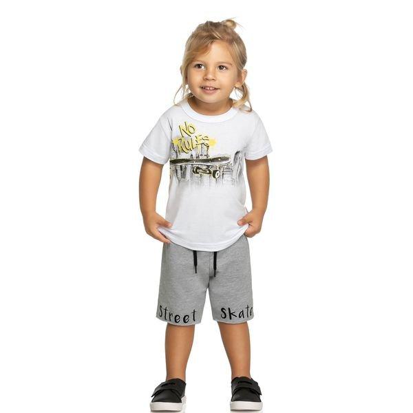 conjunto infantil masculino skate branco elian 221060 1