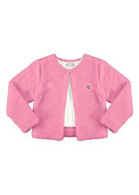 casaco pelo infantil juvenil feminino rosa alakazoo 67553