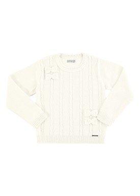 cardigan trico infantil feminino offwhite alakazoo 67495 3