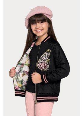 jaqueta dupla face infantil feminina preto alakazoo 65796 1