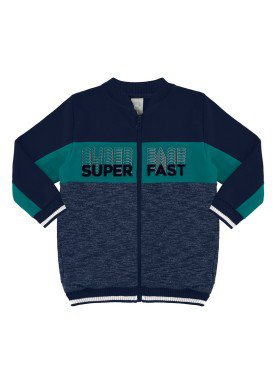jaqueta moletom infantil masculina super fast marinho alakazoo 67395