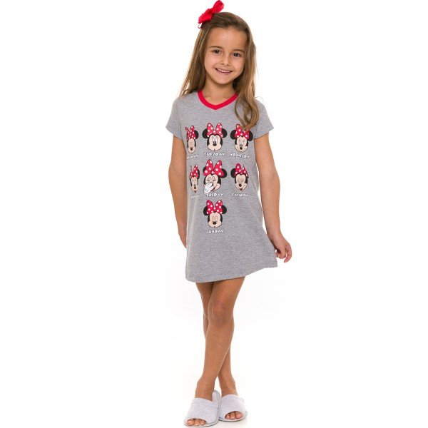 camisola infantil feminina disney mescla evanilda 55 03 0005