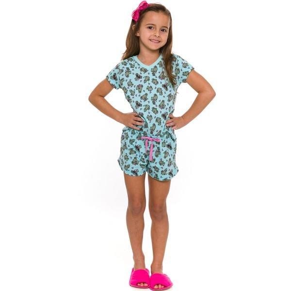 pijama curto infantil feminino coalas verde evanilda 49 01 0035