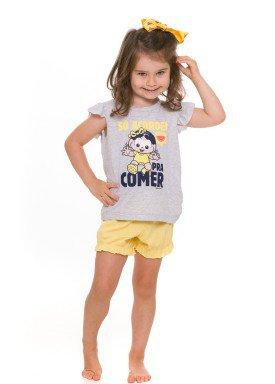 pijama curto infantil feminino turma monica mescla evanilda 60 04 0010