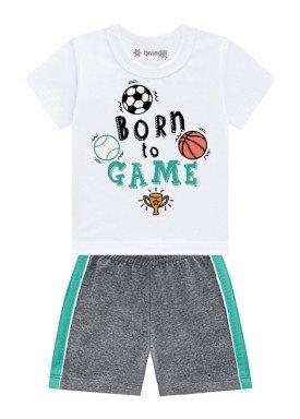 conjunto bebe masculino born to game preto brandili 34379