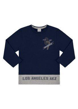 camiseta manga longa infantil masculina los angeles marinho alakazoo 67394