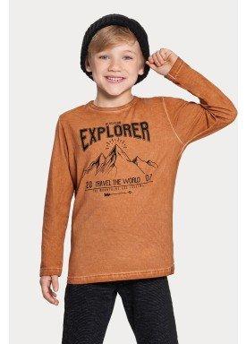camiseta manga longa infantil masculino explorer marrom alakazoo 67419 1