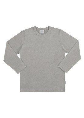 camiseta basica manga longa juvenil masculino mescla alakazoo 00214