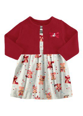 vestido bolero bebe feminino mescla alakazoo 67458
