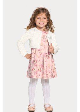 vestido casaco infantil feminino puppies offwhite alakazoo 67484 1