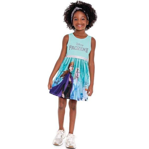 vestido infantil feminino frozen azul fakini 3441 1
