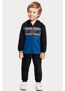 conjunto moletom infantil juvenil masculino good game preto 67385 1