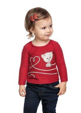 blusa manga longa bebe feminina gatinha vermelho elian 211119 1