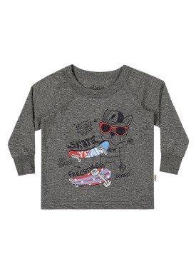camiseta manga longa bebe masculina skate mescla elian 20919