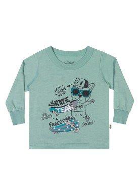 camiseta manga longa bebe masculina skate verde elian 20919