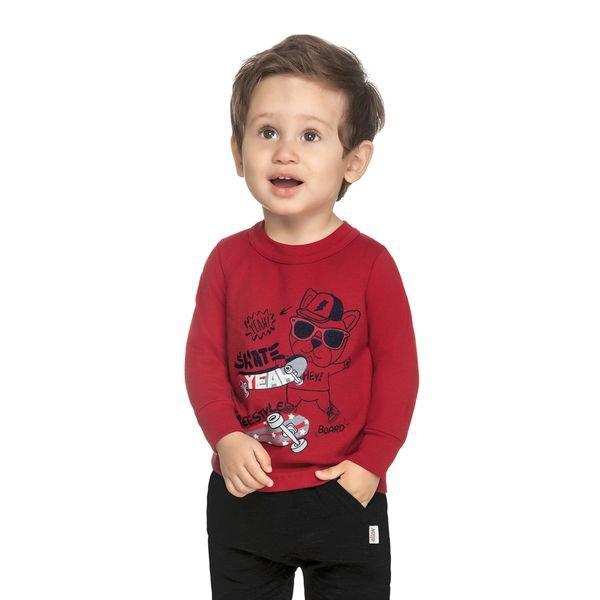 camiseta manga longa bebe masculina skate vermelho elian 20919 1