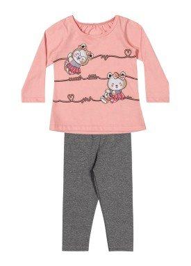 conjunto manga longa bebe feminino little girl rosa elian 211141 1