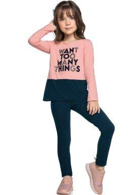 conjunto manga longa infantil feminino many things rosa elian 251416 1