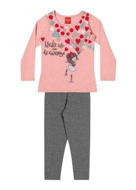 conjunto manga longa infantil feminino wake up rosa elian 231472 1