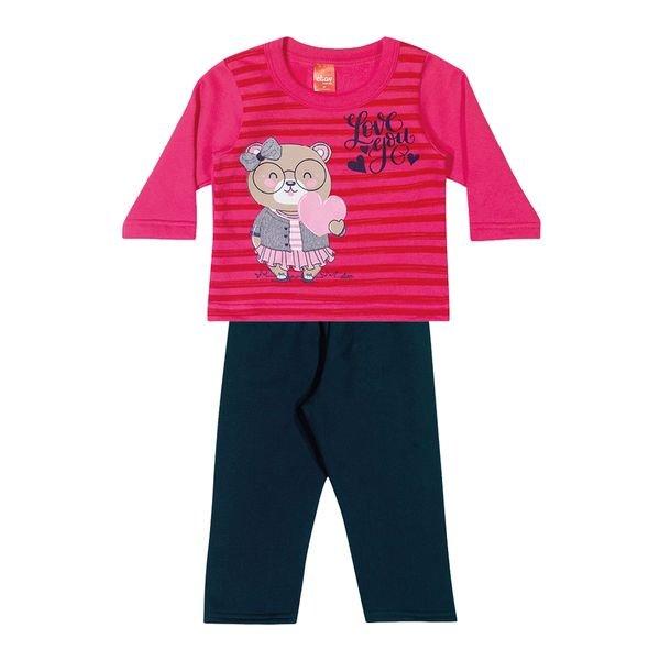 conjunto moletom bebe feminino love you pink elian 211142 1