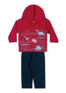 conjunto moletom bebe masculino dinos vermelho elian 20937 1