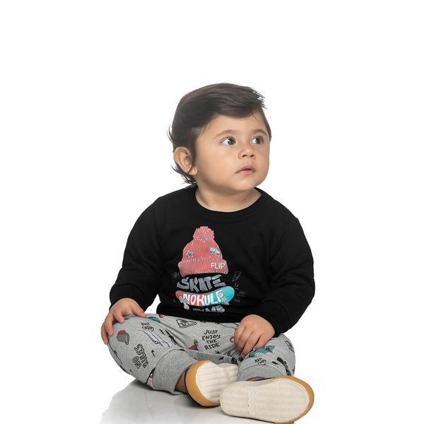 conjunto moletom bebe masculino skate preto elian 20924 1