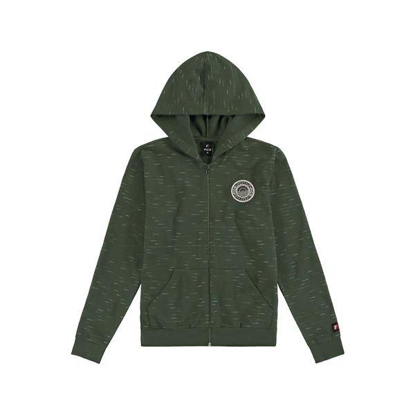jaqueta moletom juvenil masculina lifestyle verde fico 68442