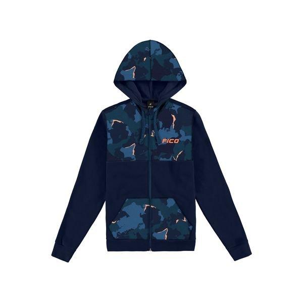jaqueta moletom juvenil masculina camuflada marinho fico 68443