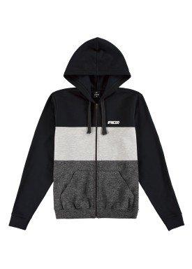 jaqueta moletom juvenil masculina preto fico 68444