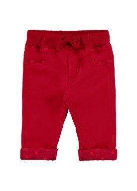 calca sarja bebe feminina vermelho alakazoo 67075