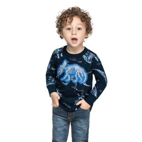 camiseta manga longa infantil masculina triceratops marinho elian 221103 1