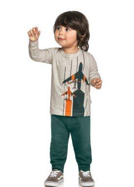 conjunto manga longa infantil masculino avioes mescla elian 221106 1