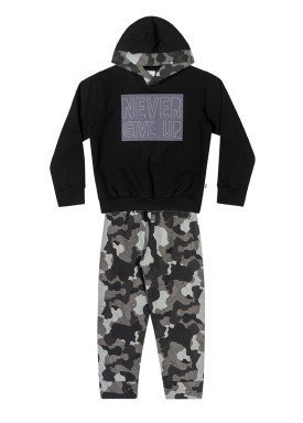 conjunto moletom infantil masculino never give up preto elian 241038 1