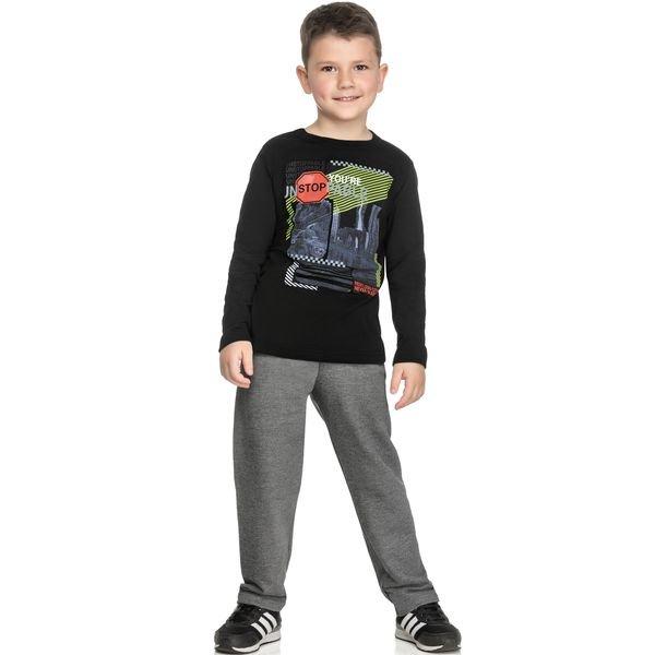 conjunto manga longa infantil masculino unstoppable preto elian 241045 1