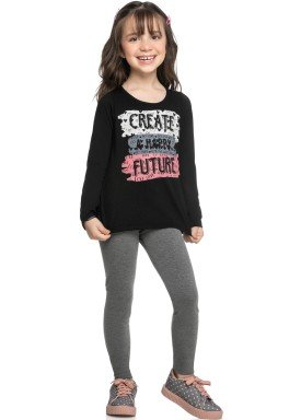 conjunto manga longa infantil feminino future preto elian 251421 1