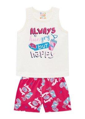 conjunto infantil feminino happy natural brandili 34293