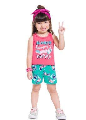 conjunto infantil feminino happy rosa brandili 34293 1