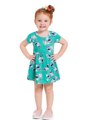 vestido infantil feminino hungry verde brandili 34294 1