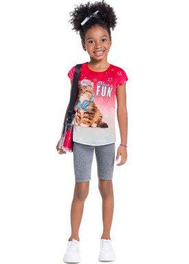 conjunto infantil feminino fun vermelho brandili 34204 1