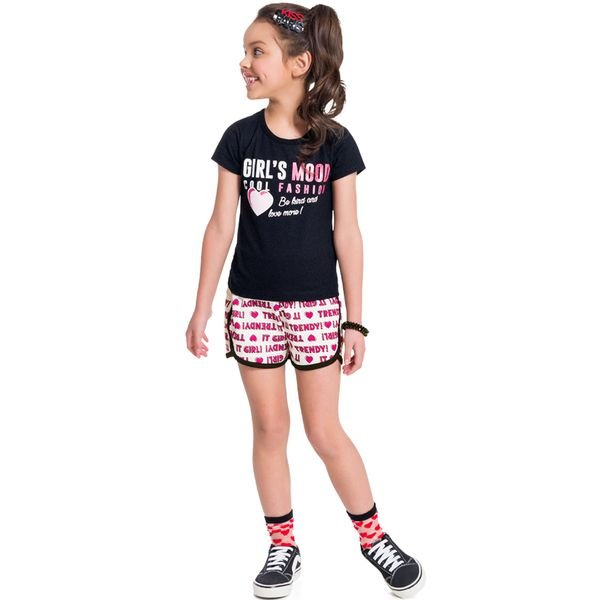 conjunto infantil feminino girls mood preto brandili 34213 1