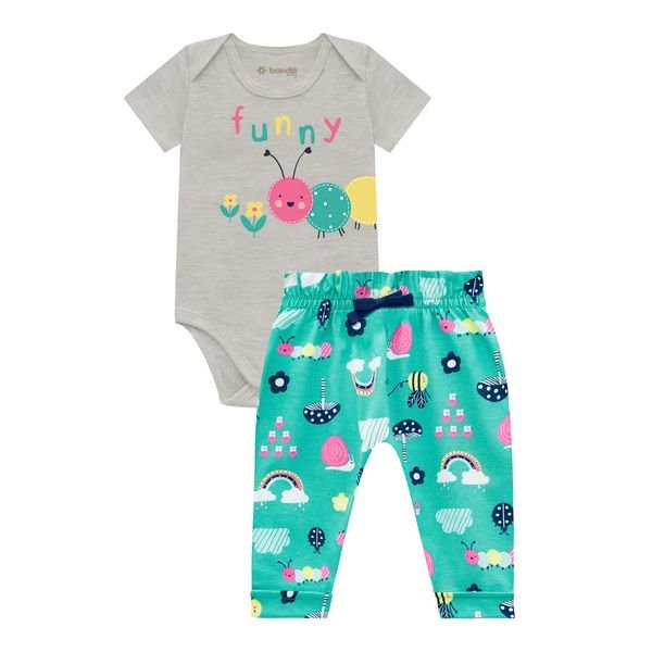 conjunto body e calca bebe feminino funny mescla brandili 34336 1