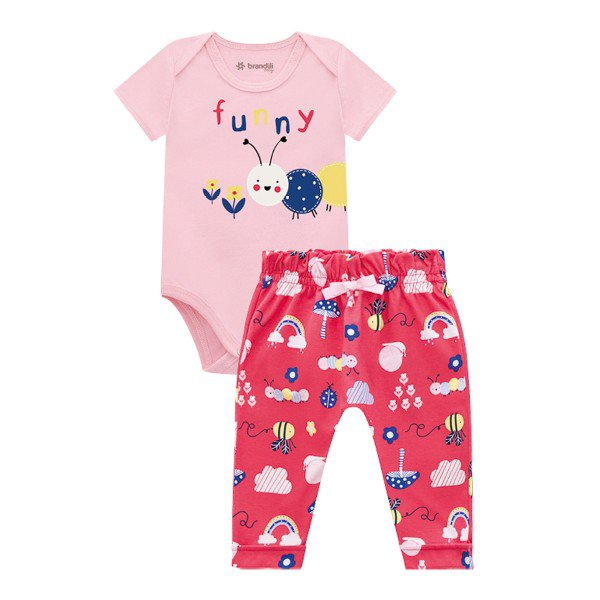 conjunto body e calca bebe feminino funny rosa brandili 34336 1