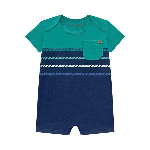 macaquinho curto bebe masculino verde brandili 34362