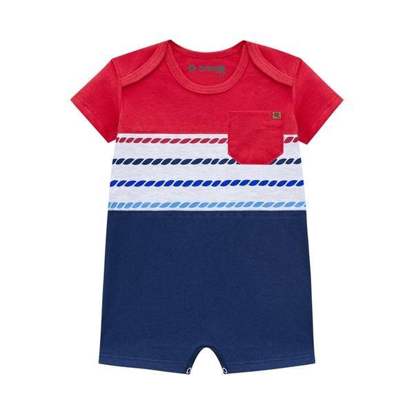 macaquinho curto bebe masculino vermelho brandili 34362