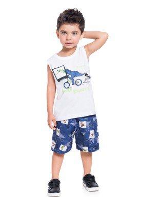 conjunto infantil masculino fast runner branco brandili 34246 1