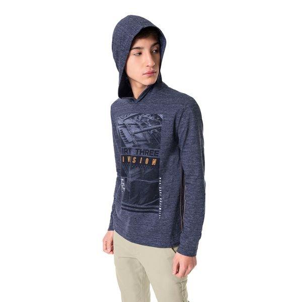 camiseta manga longa juvenil masculina division marinho hangar33 70360 1