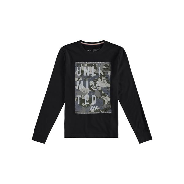 camiseta manga longa juvenil masculina unlimited preto hangar33 70359